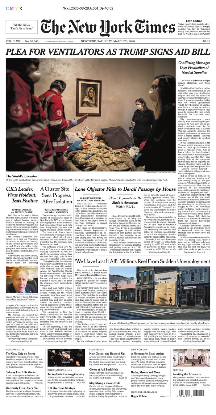 Today's Front Pages | Newseum in 2020
