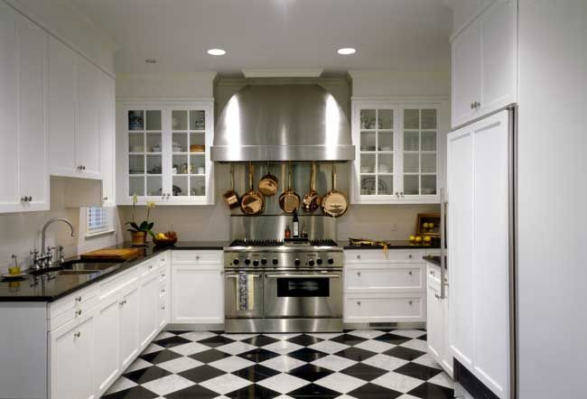 Best Love This Black And White Tile Floor In Kitchen 400 x 300