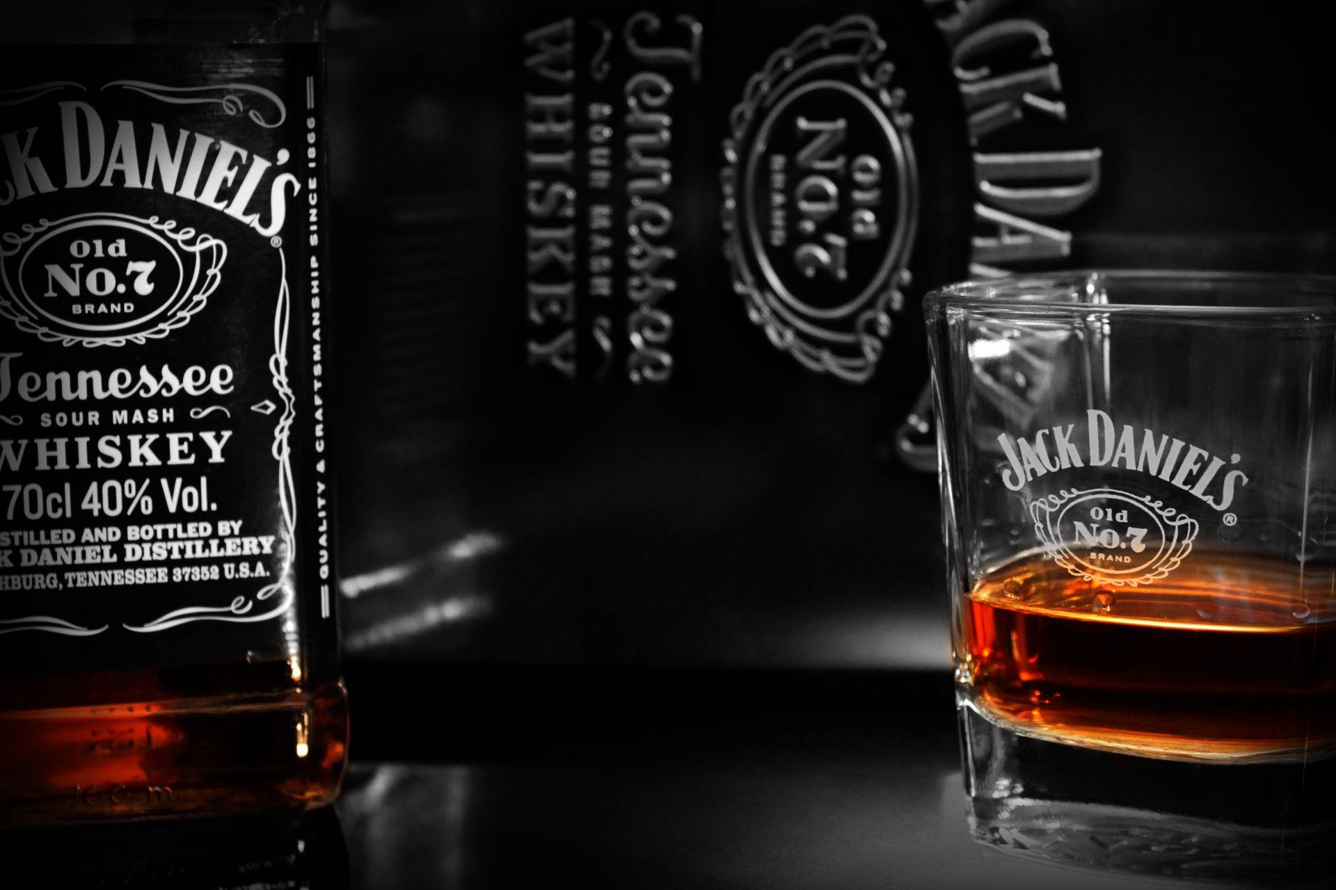 Jack Daniel's Logo Whiskey Brands Black Wallpaper HD