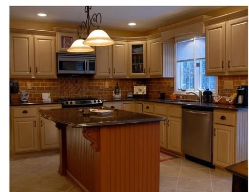 I Would Want The Base Of My Island A Different Color, But I Love The. Metal  Kitchen CabinetsKitchen RedoKitchen ...