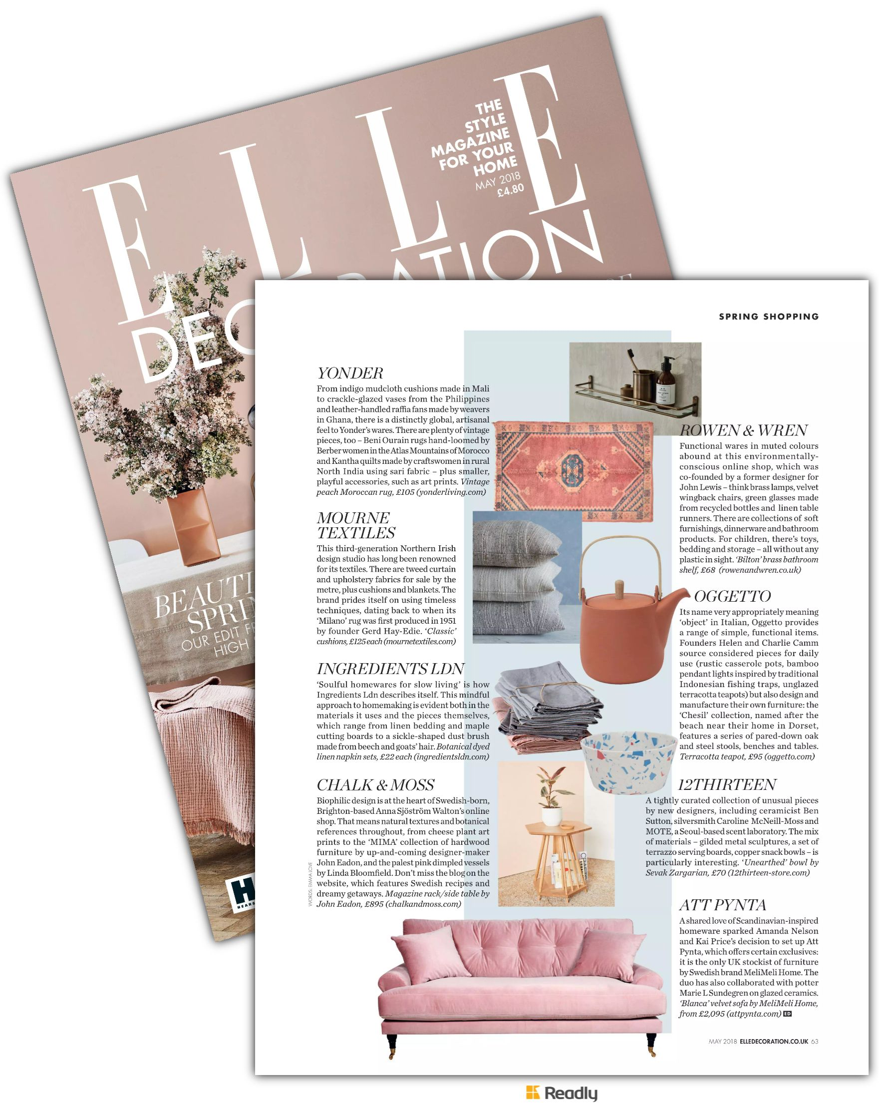 Suggestion about ELLE Decoration - UK May 2018 page 63 ...