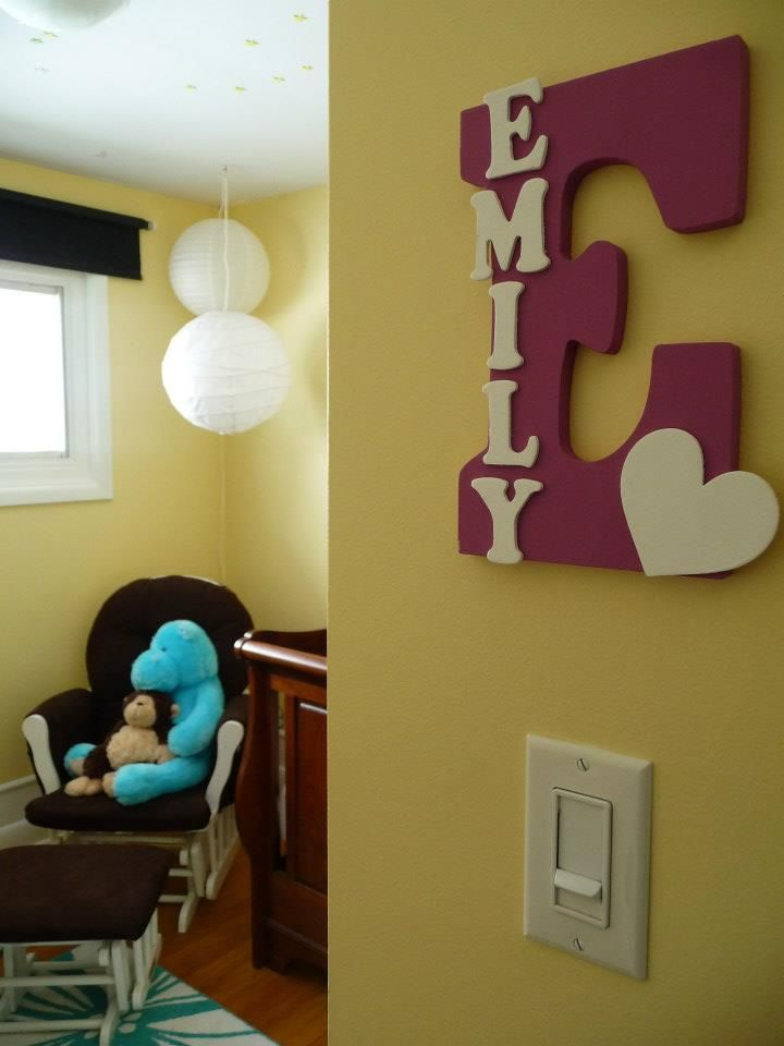 Baby Name Letters. i like for living room w/ family name too ...