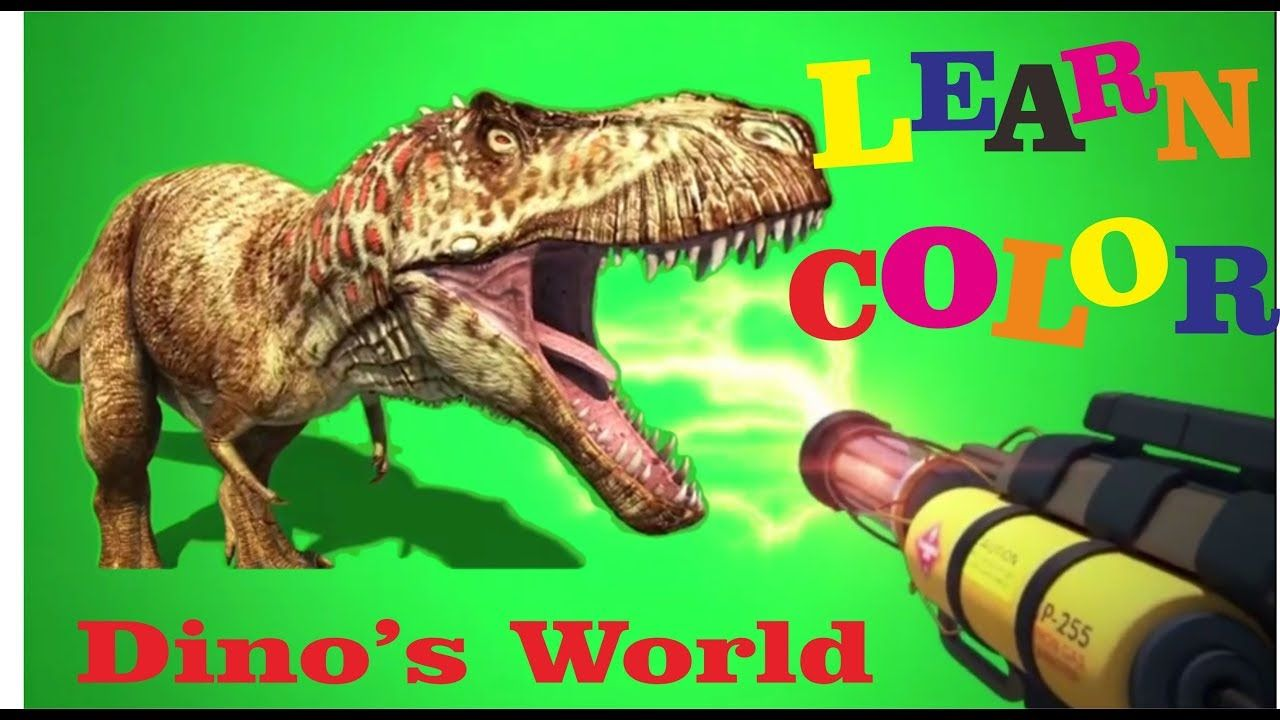 Learn Color With Dinosaurs World | Shoot Dino With Coloring Gun and ...