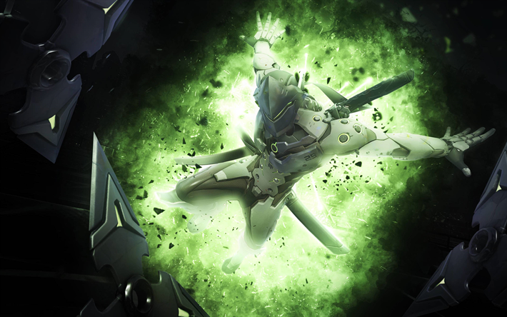 Download Wallpapers Genji 4k Cyber Warriors Art Overwatch Overwatch Wallpapers Overwatch Overwatch Genji