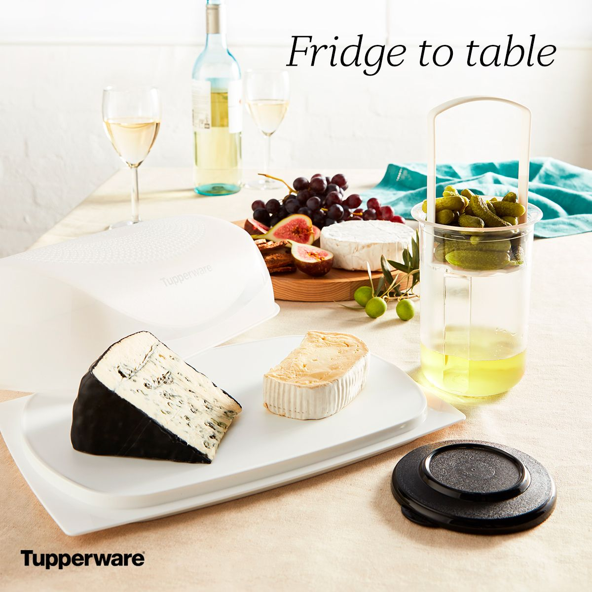 The smart way to store and serve all your platter