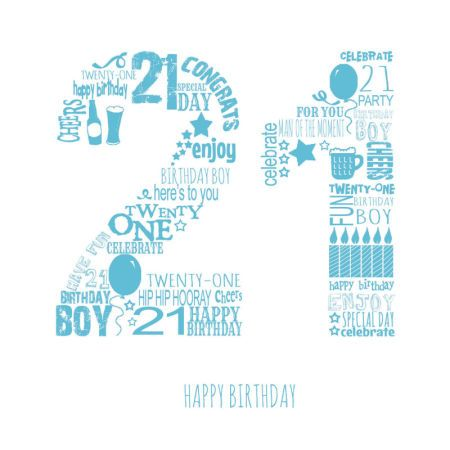 Jeannine Rundle - AD3281A 21ST MALE BLUE | Happy 21st ...