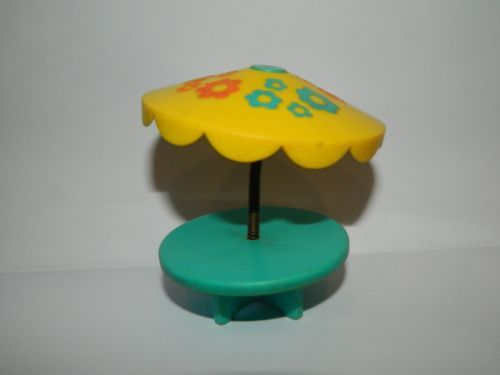 1970's Vintage Fisher Price Little People Patio Table