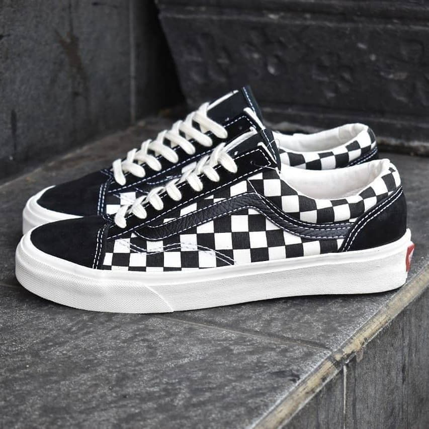 Vans Checkboard Blackwhite Premium Tag China Sz 38 44 Hanya