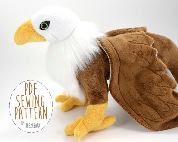 Gryphon Sewing Pattern, Griffin Stuffed Animal Plush Toy PDF Pattern ...