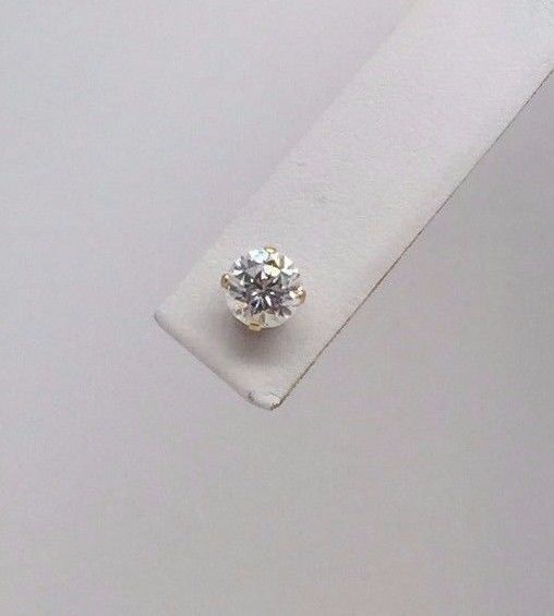 Diamonique Dq 14k Yellow Gold Clear 5 7 Mm Cz Cubic Zirconia Round