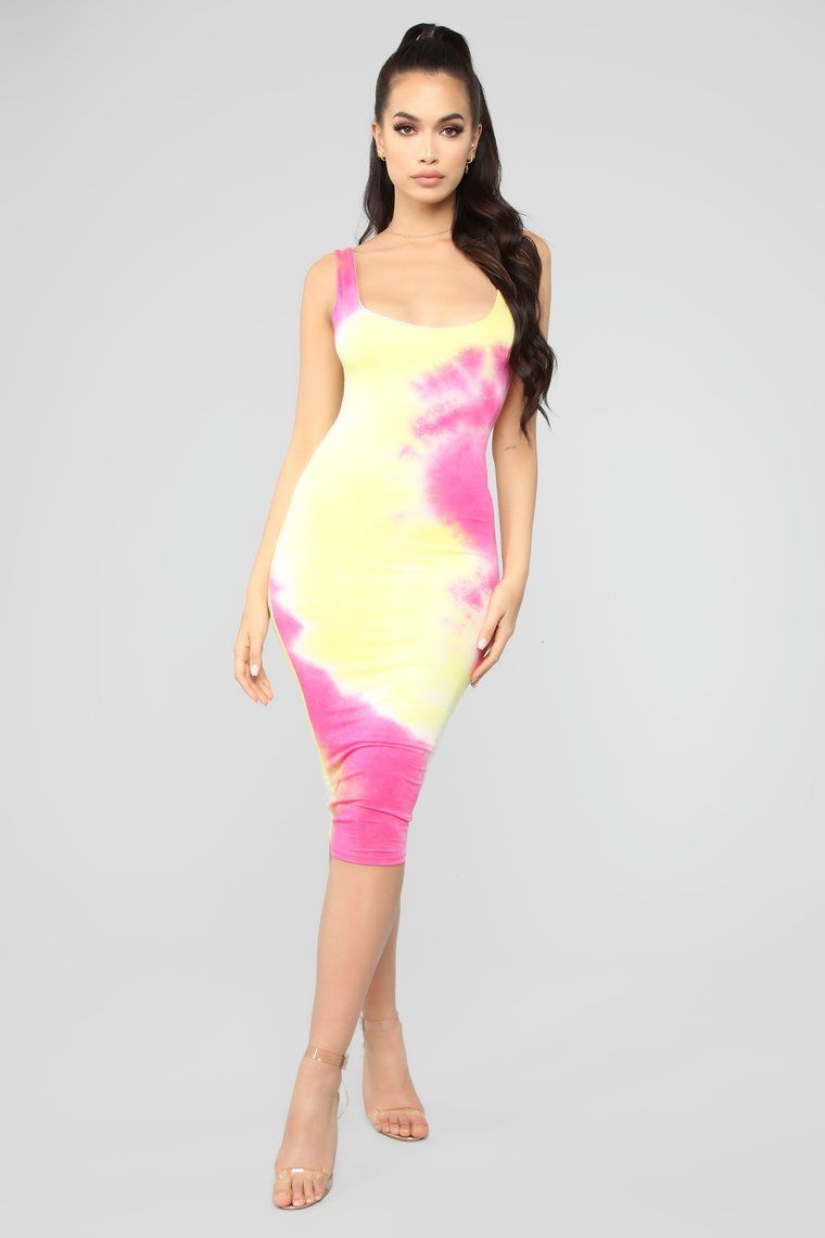 Not A Spot On Me Midi Dress in 2020 Pink
