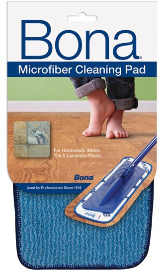 Bona Microfiber Cleaning Pad Picks Up Moisture And Dirt Leaving Floors Clean With No Dulling Scratches Use Dry To Attr Clean Microfiber Microfiber Cleaning