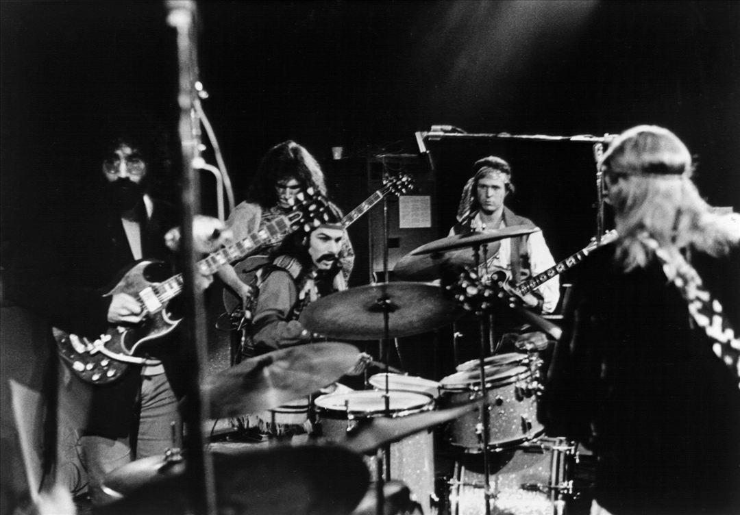 "claraclarvoyant: "" Clockwise: Jerry Garcia (Grateful Dead), Jorma Kaukonen (Jefferson Airplane), Mickey Hart (Grateful Dead), Country Joe McDonald (Country Joe & The Fish) and Jack Casady (Jefferson Airplane) jamming @ the Fillmore West, SF - January..."