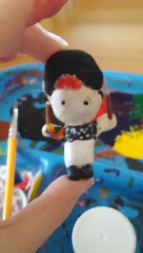 I made a little clay Josh Dun and i am very proud of it. :Danielle Olson: