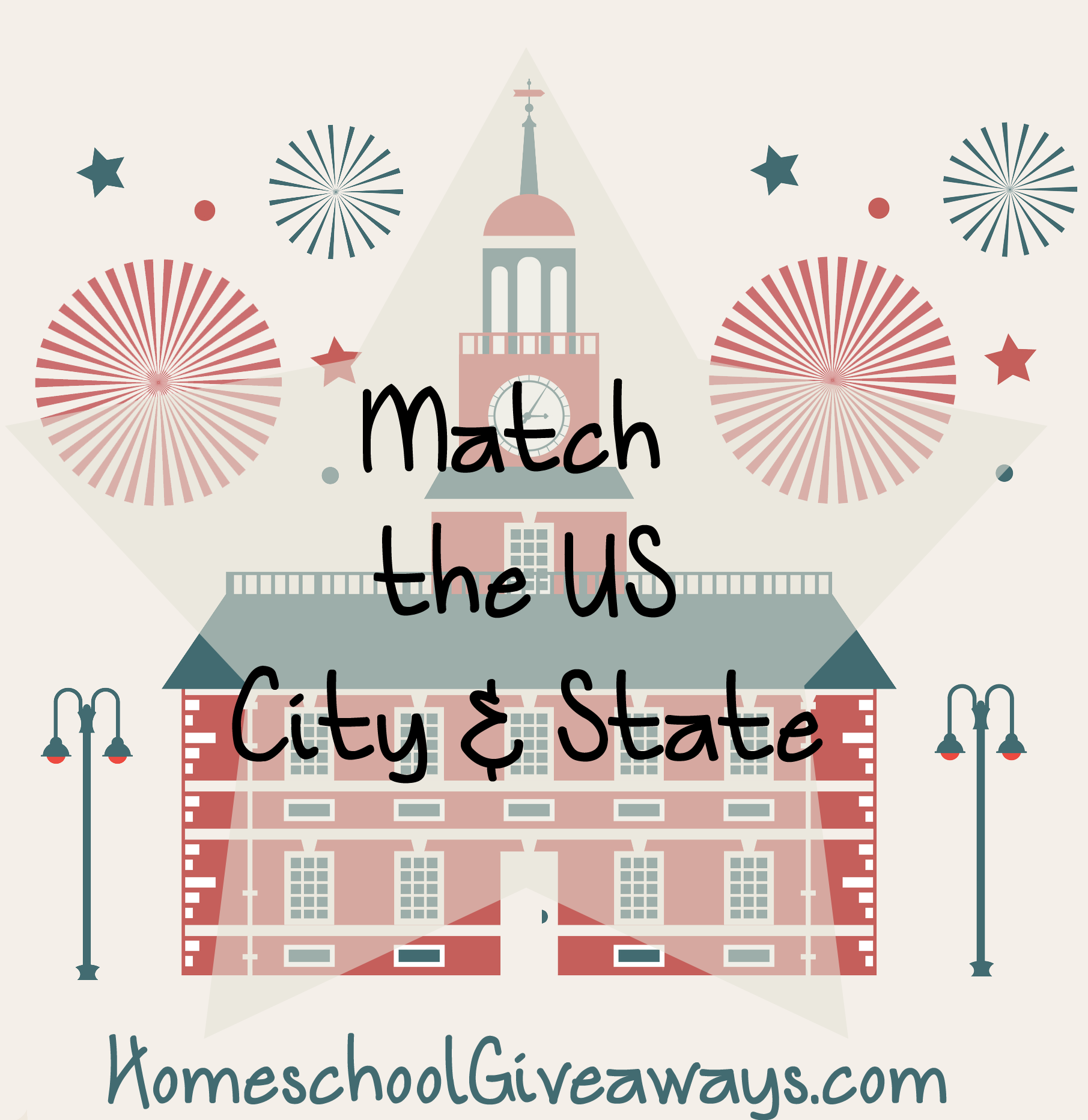 Free Match The Us City And State Printable Pack