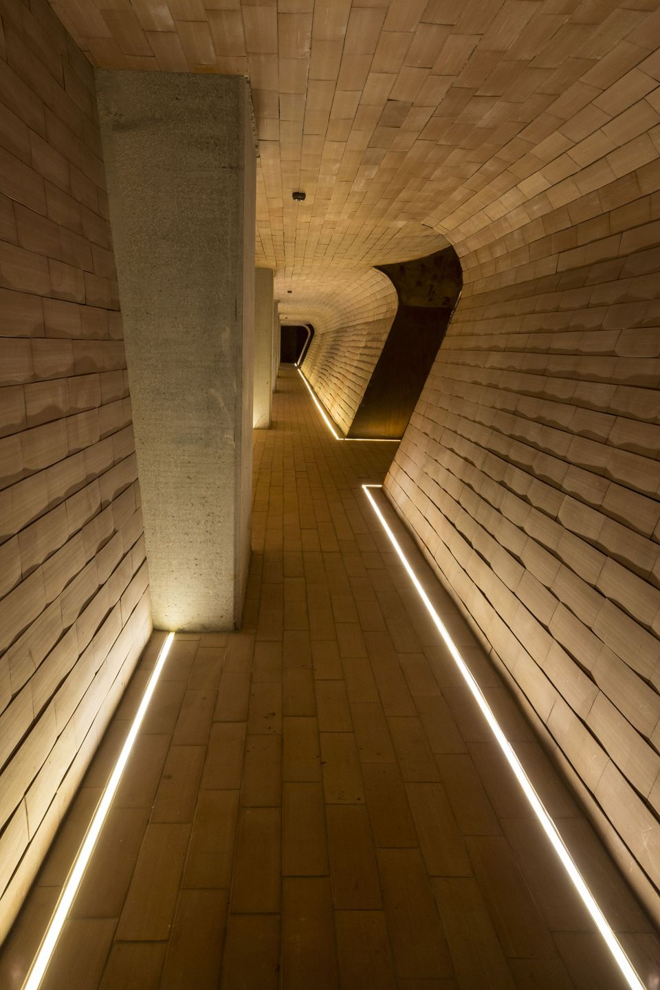 Lighting inspiration for your hallway. Linear recessed