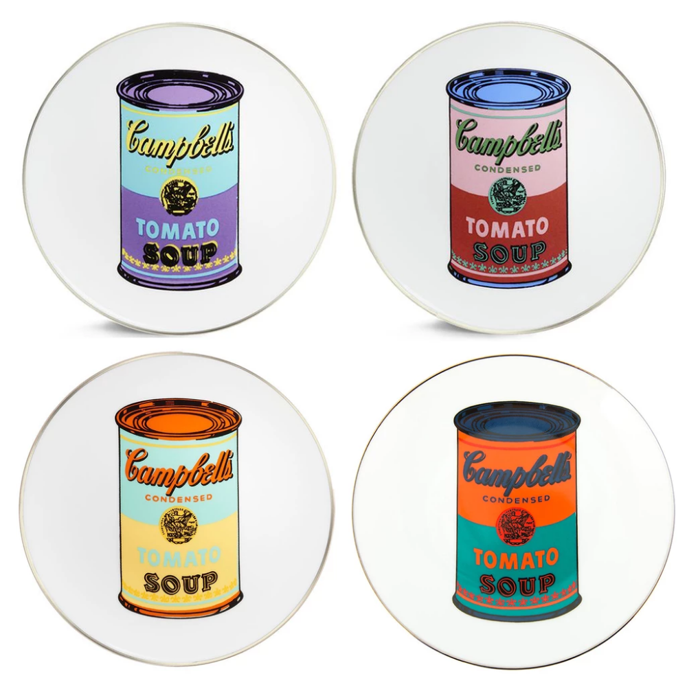 Campbell S Soup Can Plate Set By Andy Warhol Andywarhol Andy Warhol Campbell S Soup Plates Artware Editions Campbell S Soup Cans Campbell Soup Campbells