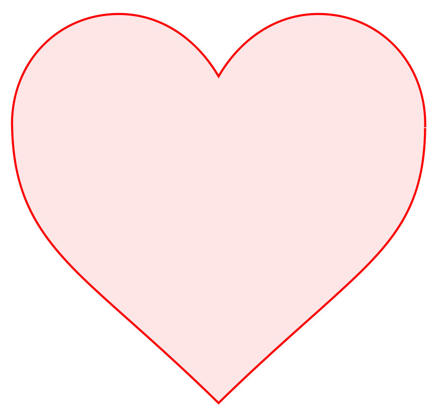 Charming Heart Clipart Outline Picture Of Pink Heart
