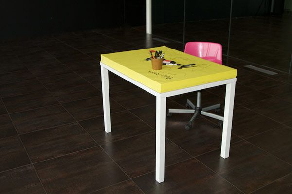 I need one of these! Post-it Note Table from Soup Studio Italy