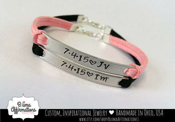 elige auténtico hermosa y encantadora siempre popular His and Hers Bracelet | Personalized Couples Initial ...