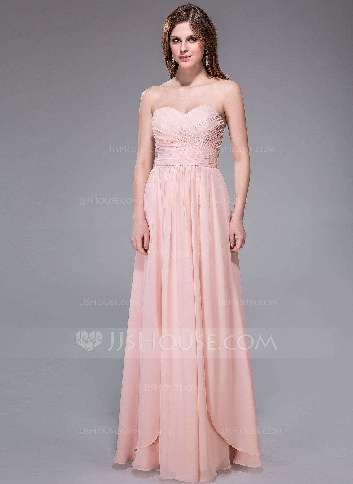 A-Line/Princess Sweetheart Floor-Length Chiffon Bridesmaid Dress ...