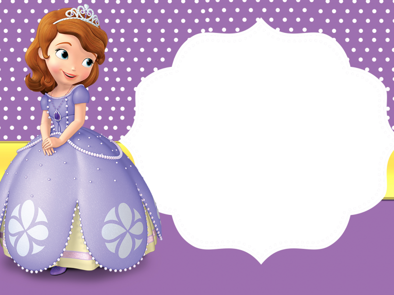 Marco Foto Princesa Sofia 4 Belle Sofia The First Birthday Party