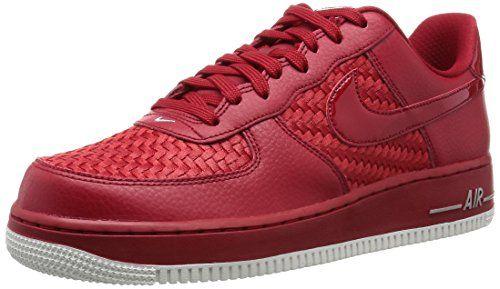 d52aa3026ef1f2 Nike Air Force 1  07 Lv8, Zapatillas de Deporte para Hombre, Rojo (Rojo  (Gym Red Gym Red-Smmt Wht-Chrm)), 43 EU