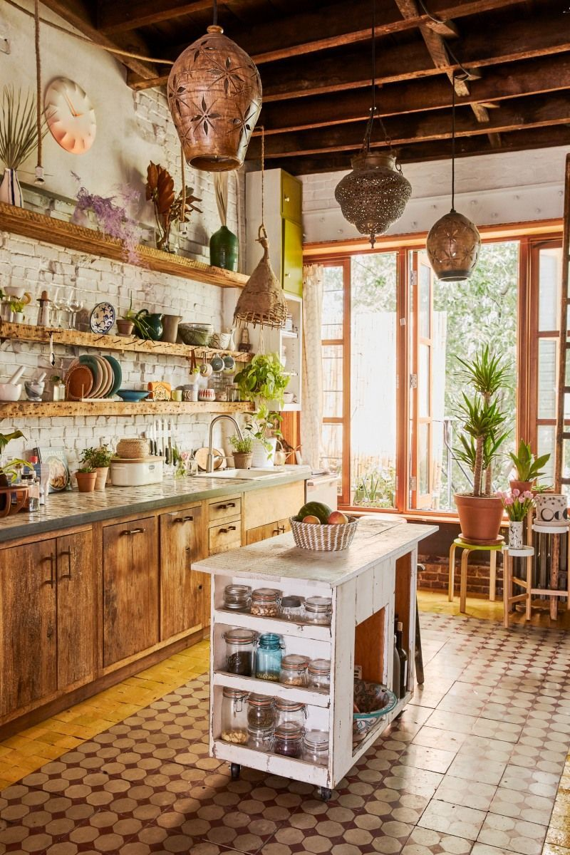People Of 2morrow Founders Brooklyn Home Tour Boho Kitchen Decor Bold Kitchen Kitchen Style