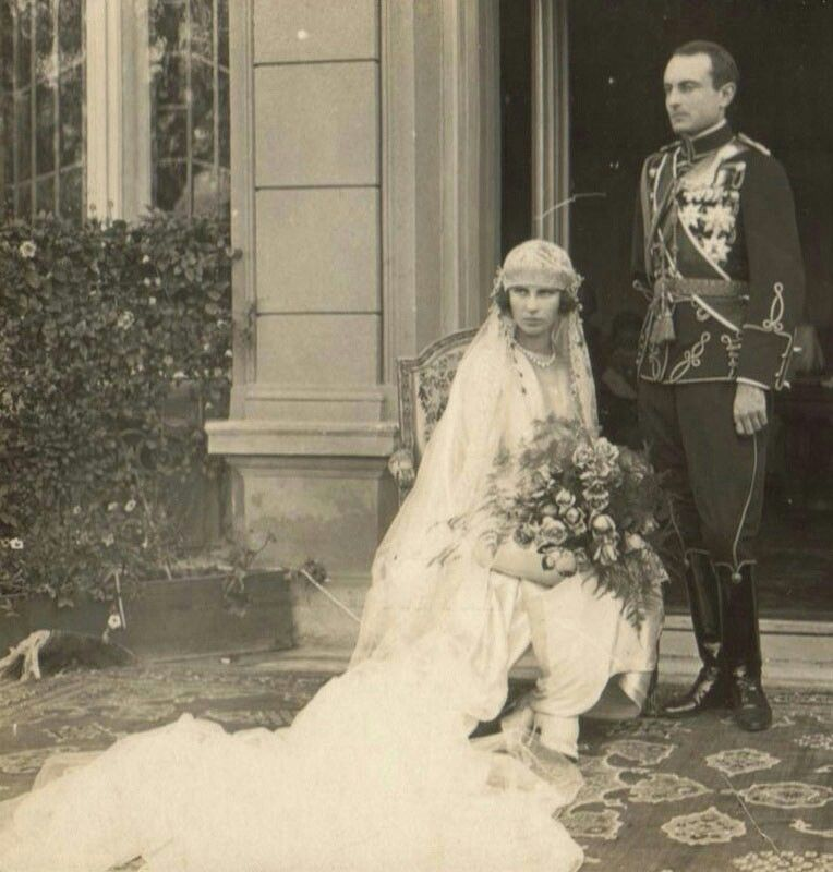 Wedding pictures of Prince Paul of Yugoslavia and Princess Olga of Greece and Denmark, 1923. source