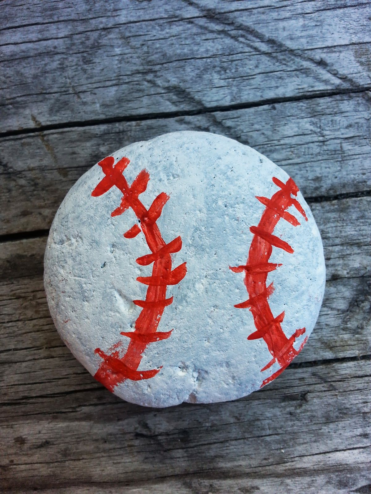 Baseball Painted Rock Rock Crafts Painted Rocks