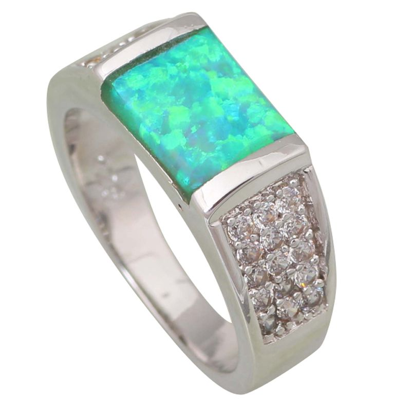 Find More Rings Information about Wedding rings New Statement Rings for women Green Fire Opal silver jewelry Bridal ring size 5 6 7 8 9 R427,High Quality ring gag,China ring boxing Suppliers, Cheap rings for jewelry making from Dana Jewelry Co., Ltd. on Aliexpress.com