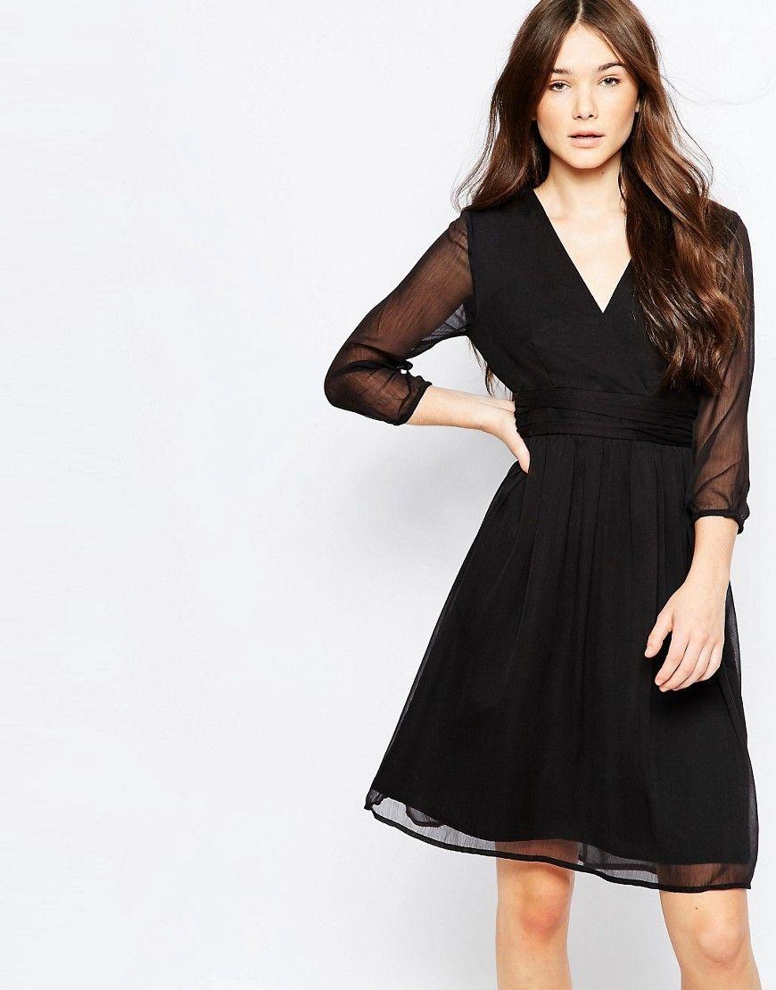 Vero Moda 3 4 Sleeve Midi Dress At Asos Com Dresses Midi Dress With Sleeves Midi Dress [ 1110 x 870 Pixel ]