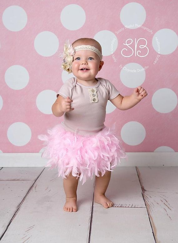 Bloomers First Photo Shoot Diaper Cover Feather Bloomers Newborn Baby Photo Prop New Baby Gift Baby Bloomers