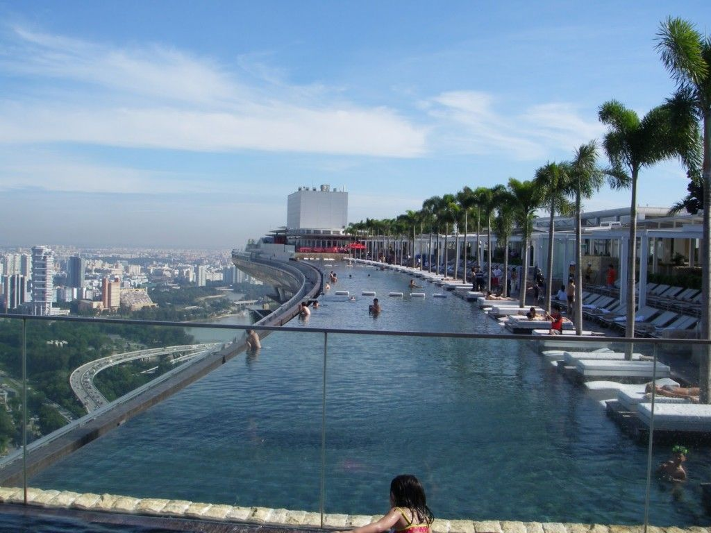 Rooftop Pool At Marina Bay Sands Hotel Singapore Amazing Swimming Pools Swimming Pools Cool Pools