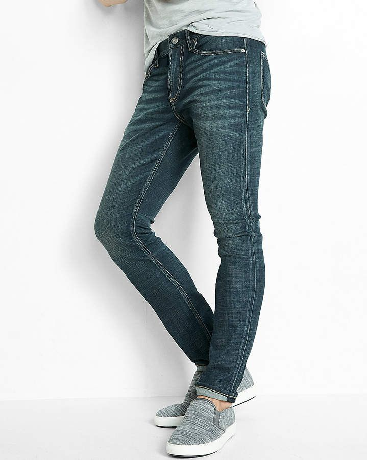 6c14e4e6d7dc Express Skinny Dark Wash Performance Stretch+ Jeans | Products ...