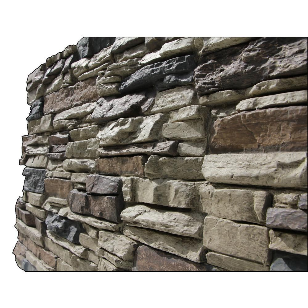 Superior Building Supplies Faux Grand Heritage 24 In X 48 In X 1 1 4 In Stack Stone Panel Rustic Lodge Hd Col2448 Rl The Home Depot In 2020 Stone Siding Panels Stacked Stone Panels