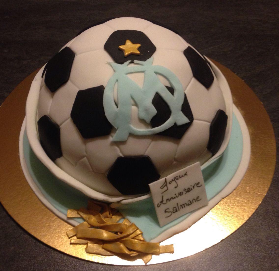 Birthday Cake Ballon De Foot Charpe Supporter De L Om Th Me