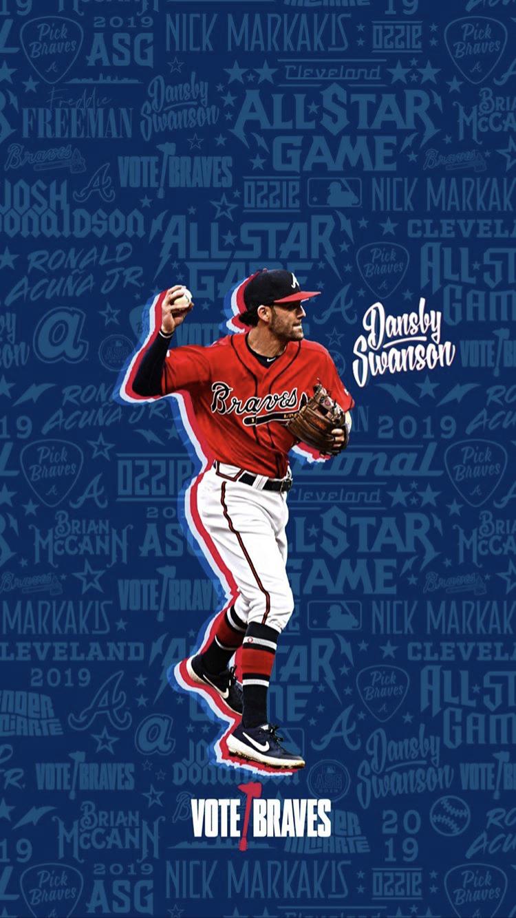 Wallpaper Atlanta Braves Wallpaper Braves Baseball Braves Game