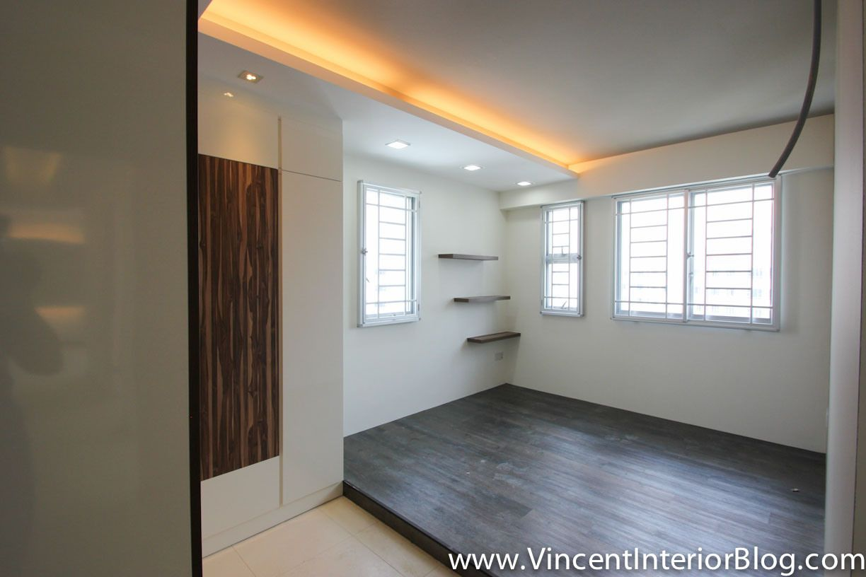 Master Bedroom Hdb master bedroom with l-shaped wardrobe | home design ideas