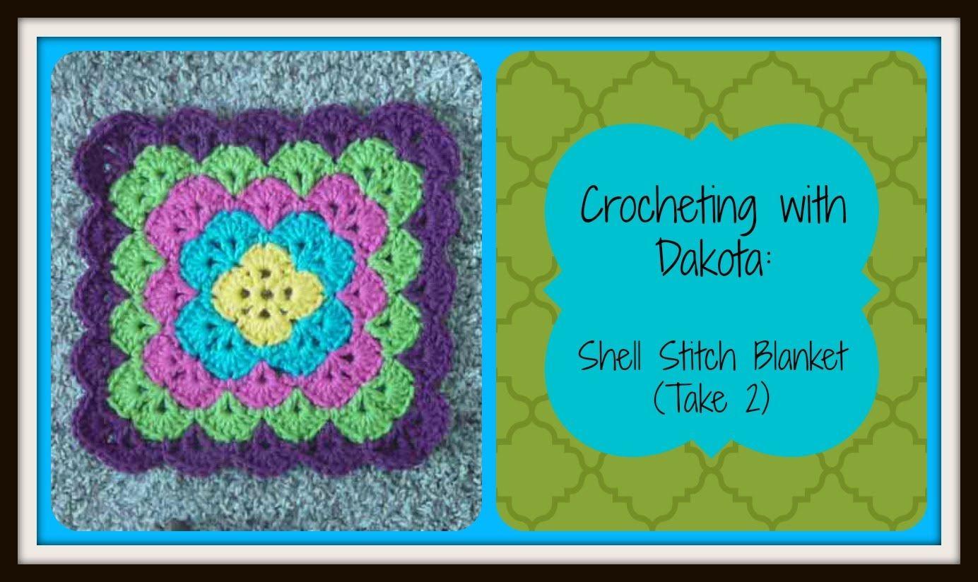 Crocheting With Dakota: Beautiful Shell Stitch Blanket (take 2 ...