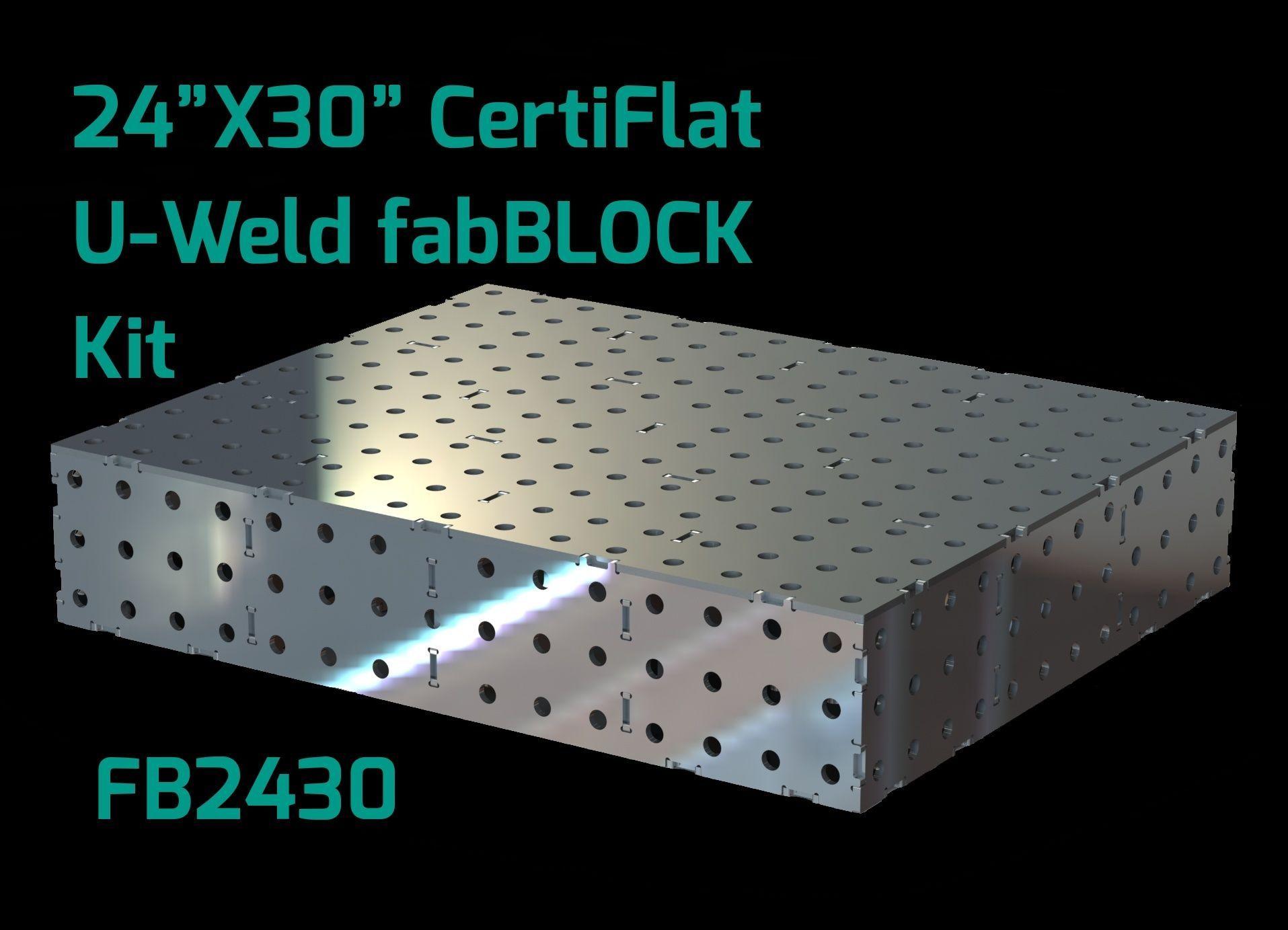 CertiFlat FB2430 fabBlock U-Weld Kit Welding Table