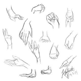 Hand Practice Anime Sketch Hand Anaotomy Girls Hands In