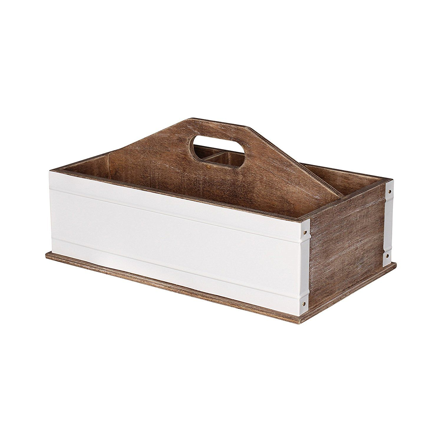 Amazon.com : Kate And Laurel Industrious Desktop Office Supply Caddy  Organizer, Rustic Wood