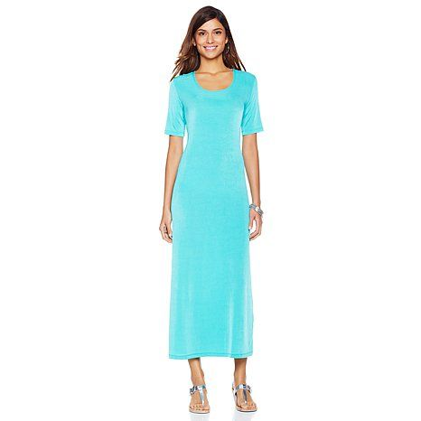 Original Slinky® Brand Short-Sleeve Maxi Dress
