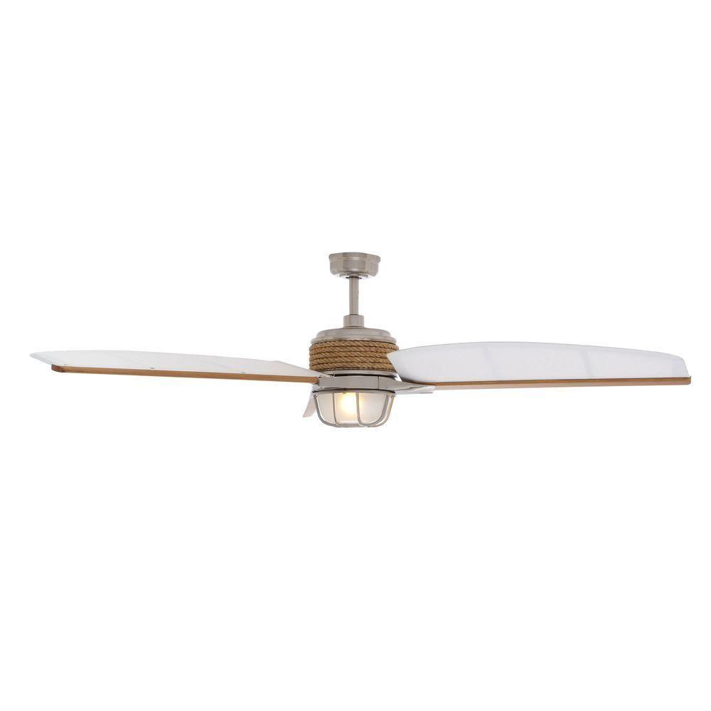 Hampton bay escape 68 in brushed nickel indooroutdoor ceiling fan hampton bay escape 68 in brushed nickel indooroutdoor ceiling fan 34314 aloadofball Choice Image
