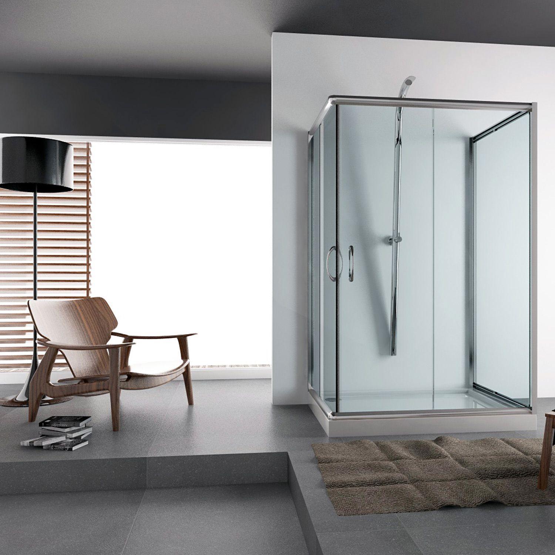 Shower Enclosure 3 Sided Sliding Door Corner Entry Glass Cubicle Screen Bathroom Shower Enclosure Home Decor Bathroom Design