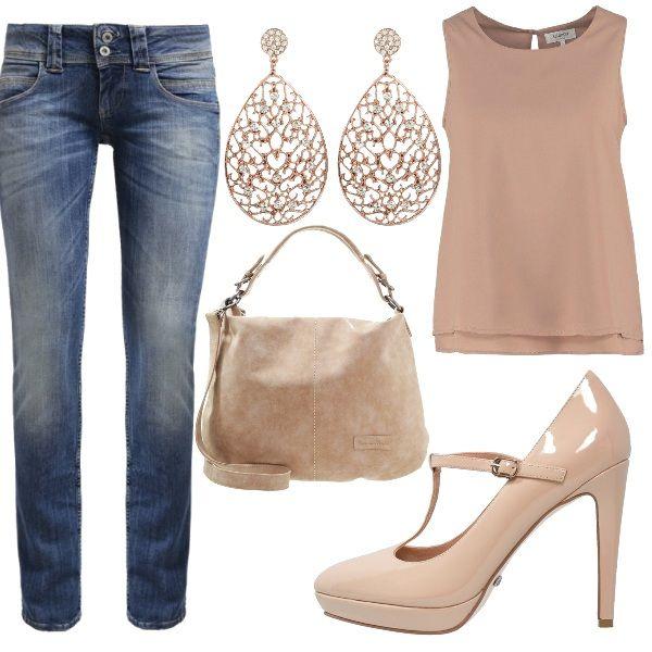 Outfit da indossare tutti i giorni soprattutto in ufficio caratterizzato da jeans dritti top ...