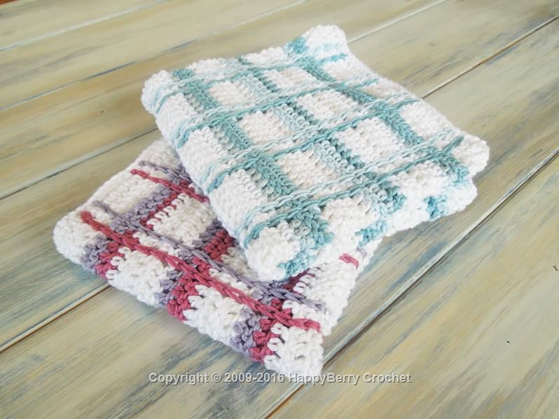 Tartan Plaid Wash Cloths | Crochet | Pinterest