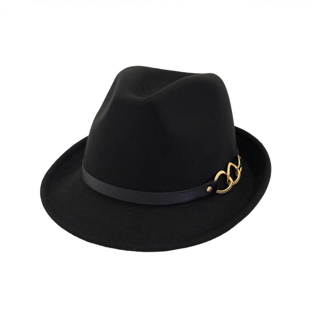 31c0dc57f 2018 New Winter Fedora Hat Men Women Wool Felt Jazz Hat Vintage ...
