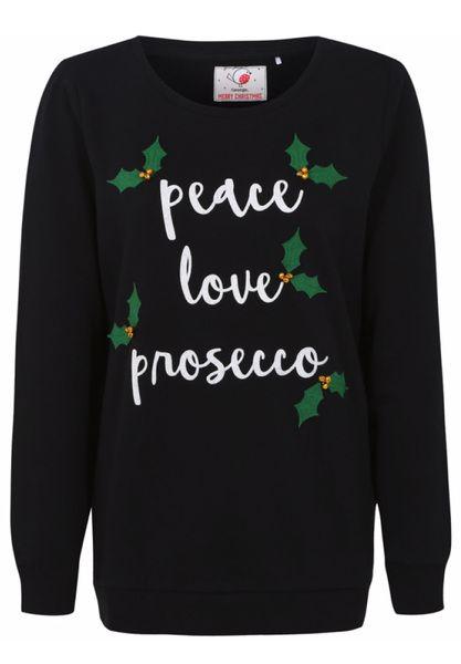 Christmas Peace Love Prosecco Jumper 12 50 Asda George Prosecco Peace Love Christmas Jumpers